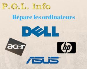 les ordinateurs que PGL Info répare